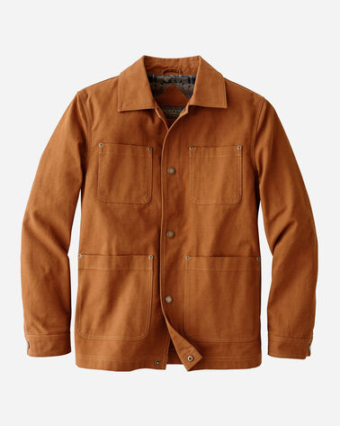 MEN'S BALDWIN CANVAS WORK JACKET IN WHISKEY