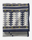 ADDITIONAL VIEW OF SPIRIT SEEKER BLANKET IN NAVY