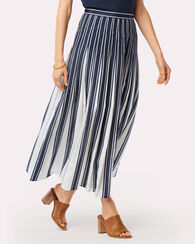 CHLOE SKIRT, NAVY/WHITE STRIPE, large
