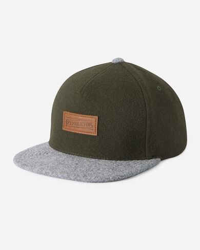 WOOL MIXED HAT IN GREEN