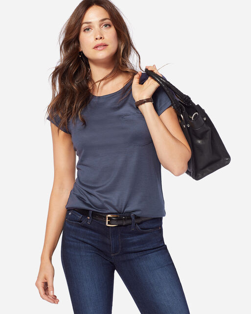 MERINO ONE POCKET TEE, INDIGO, large