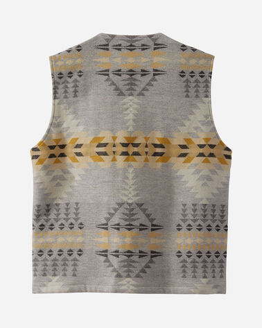 ADDITIONAL VIEW OF MEN'S PATCH POCKET WOOL VEST IN RANCHO ARROYO GREY
