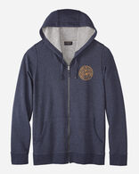 MEN'S RAM LOGO ZIP HOODIE IN NAVY HEATHER