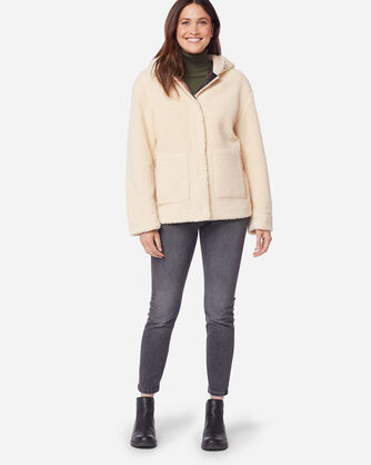 ADDITIONAL VIEW OF WOMEN'S BERBER FLEECE HOODED JACKET IN NATURAL