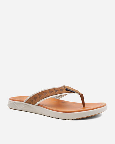 ALTERNATE VIEW OF MEN'S CANNON BEACH FLIP FLOPS IN CARAMEL CAFE