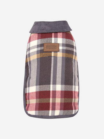 SMALL PLAID DOG COAT IN BRESLIN PLAID