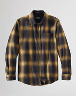 MEN'S FITTED LODGE SHIRT IN OXFORD MIX/GOLD OMBRE