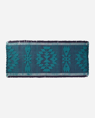 OVERSIZED TUCSON BATH MAT IN TURQUOISE/NAVY