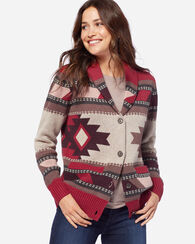 HIGH DESERT CARDIGAN, RED ROCK/TAN, large