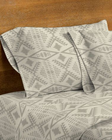 DIAMOND RIVER FLANNEL SHEET SET, TAUPE, large