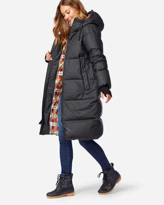 WOMEN'S VANCOUVER DOWN PUFFER COAT IN BLACK