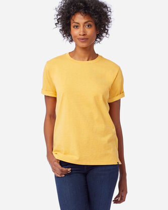WOMEN'S DESCHUTES TEE IN MARIGOLD HEATHER
