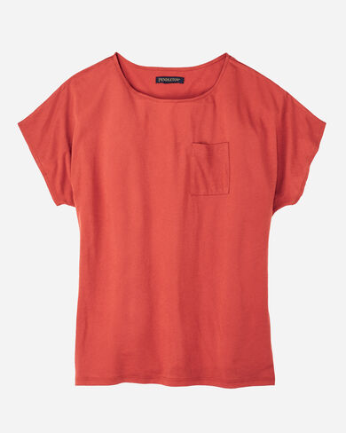 SHORT-SLEEVE JERSEY TEE, TOMATO RED, large