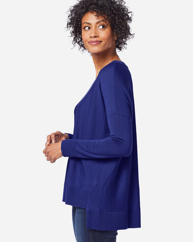 ADDITIONAL VIEW OF WOMEN'S MERINO EASY-FIT PULLOVER IN ULTRAMARINE