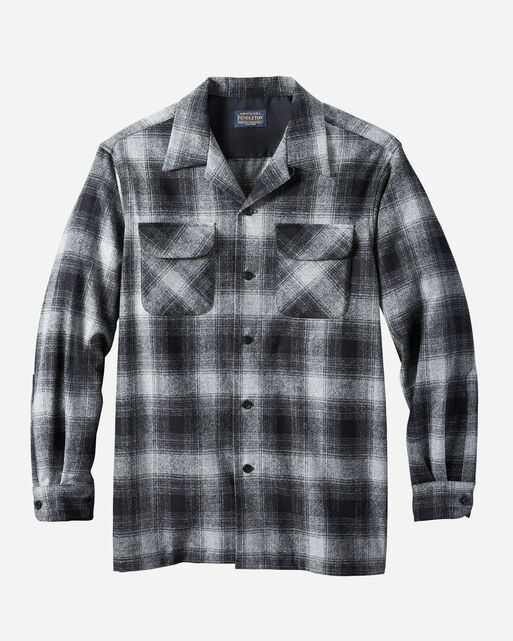 MEN'S BIG BOARD SHIRT IN BLACK/OXFORD OMBRE