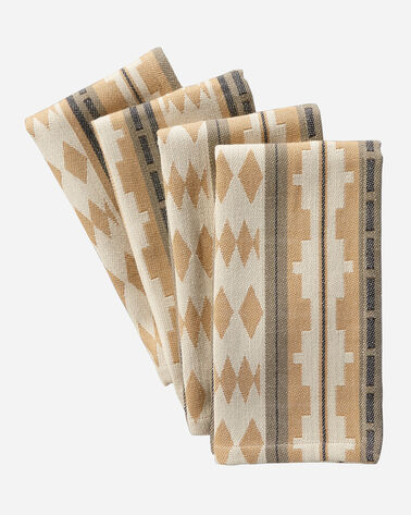 TWIN ROCKS NAPKINS, SET OF 4 IN CAMEL
