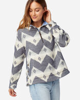 WOMEN'S DOUBLESOFT HALF-ZIP PULLOVER IN NAVY CLOUDCROFT