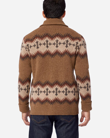 ALTERNATE VIEW OF MEN'S SONORA LAMBSWOOL CARDIGAN IN TAN