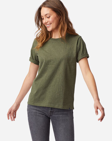 WOMEN'S DESCHUTES TEE IN OLIVE HEATHER