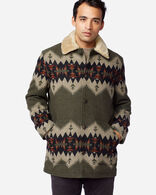MEN'S BROWNSVILLE SHEARLING-COLLAR COAT IN OLIVE MIX SONORA