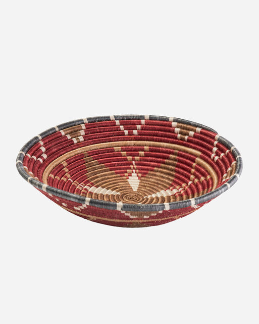 EXTRA LARGE HOPE BASKET IN EARTH RED