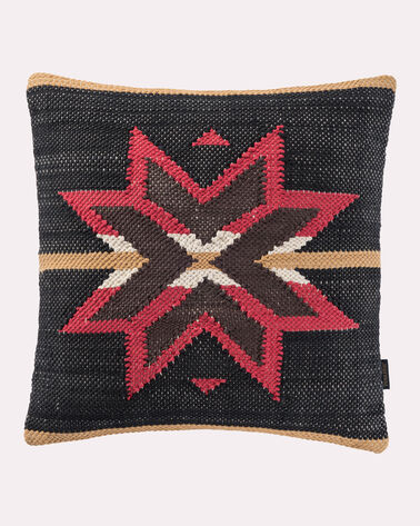 GATEKEEPER WOVEN CHINDI PILLOW, CHARCOAL MULTI, large