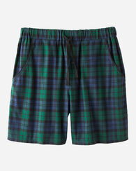 FLANNEL SLEEP SHORTS, BLACK WATCH TARTAN, large