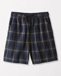 COTTON FLANNEL SLEEP SHORTS, NAVY PLAID, large