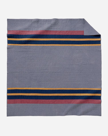 ADDITIONAL VIEW OF YAKIMA CAMP PIECED QUILT SET IN LAKE
