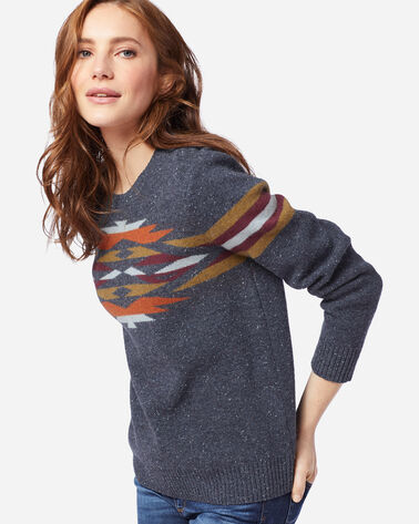 ADDITIONAL VIEW OF WOMEN'S DESERT GEM WOOL SWEATER IN INDIGO