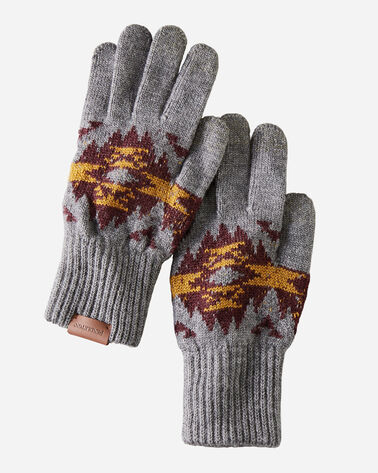 JACQUARD TEXTING GLOVES IN CRESCENT BUTTE GREY
