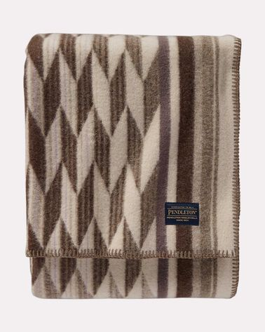 SALTILLO DIAMOND THROW, TAUPE, large