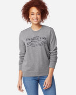 WOMEN'S PENDLETON LOGO SWEATSHIRT IN GREY HEATHER