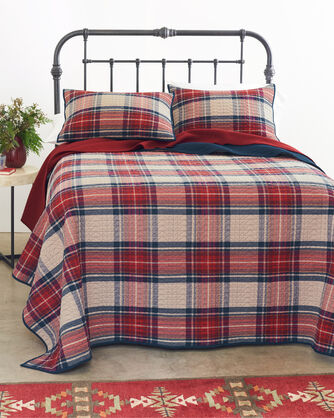 ADDITIONAL VIEW OF VINTAGE DRESS STEWART COVERLET IN RED MULTI