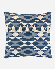 YUMA STAR TASSELS PILLOW, BLUE, large