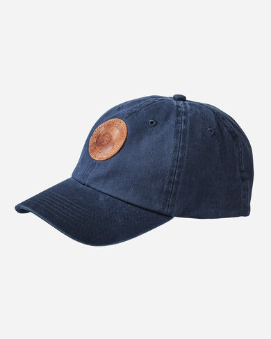 COTTON HAT WITH MILL PATCH, NAVY, large