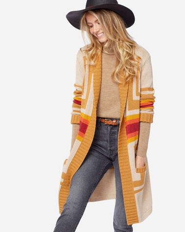 WOMEN'S HARDING OPEN CARDIGAN IN TAN