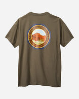 ALTERNATE VIEW OF MEN'S BADLANDS PARK TEE IN BROWN