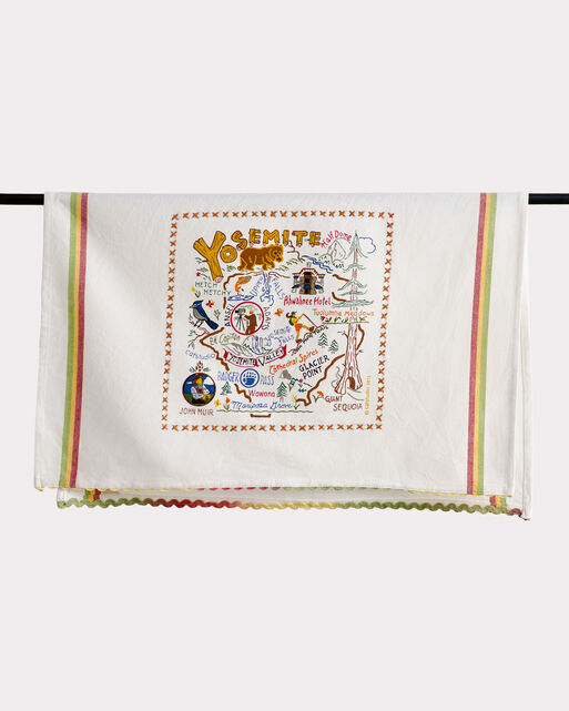 NATIONAL PARK EMBROIDERED DISH TOWELS, YOSEMITE, large
