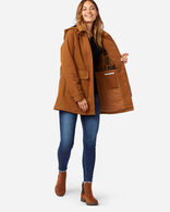 WOMEN'S ST HELENA SHERPA-LINED COAT IN WHISKEY