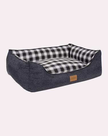 MEDIUM PLAID KUDDLER DOG BED
