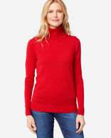 WOMEN'S TIMELESS MERINO TURTLENECK IN CHERRY RED