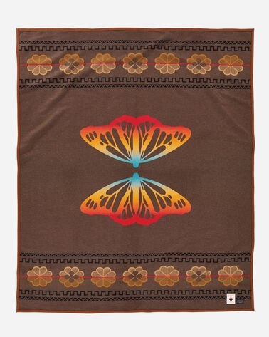 BUTTERFLY BLANKET IN BROWN