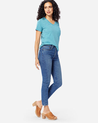 ADDITIONAL VIEW OF LEVI'S 501 SKINNY WE THE PEOPLE JEANS IN MEDIUM BLUE