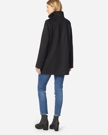 ADDITIONAL VIEW OF LOGAN WATERPROOF STAND-COLLAR COAT IN BLACK