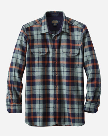 FITTED BUCKLEY SHIRT, BLUE MIX/NAVY PLAID, large