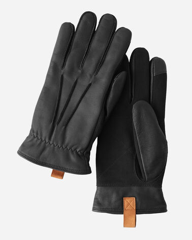 LEATHER GLOVES, DISTRESSED BLACK, large