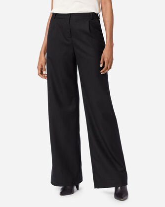 ADDITIONAL VIEW OF HOLLYWOOD AIRLOOM WOOL FLANNEL PANTS IN BLACK