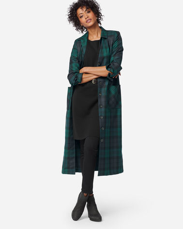 THE '49ER COAT DRESS IN BLACK WATCH TARTAN