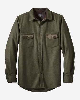 MEN'S FITTED BARLOW SHIRT IN PEAT MOSS MIX